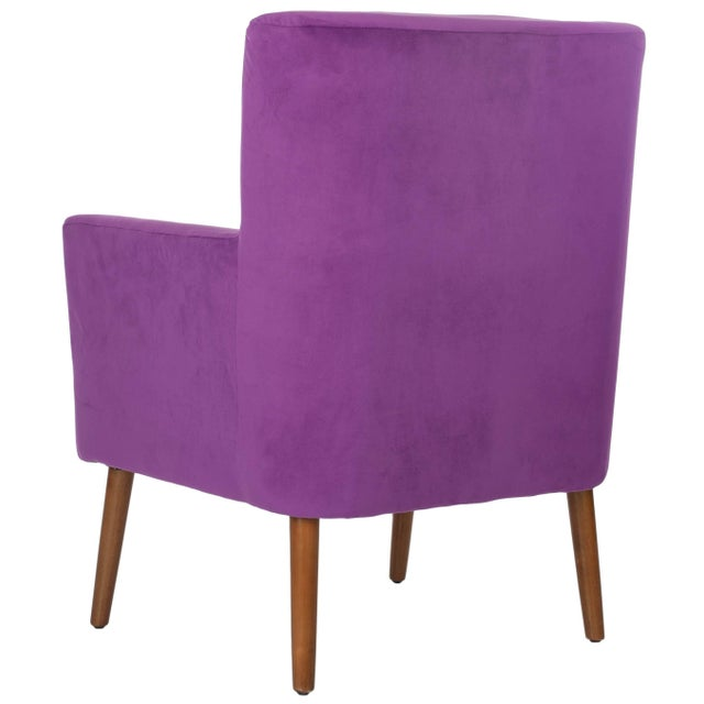 The Everett arm chair features simple, clean lines amped up by luxe purple cotton velvet fabric. A perfect mix of...