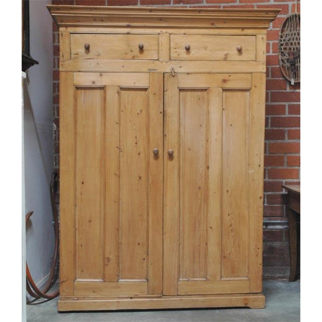 Two Door Pine Cabinet For Sale - Image 4 of 9