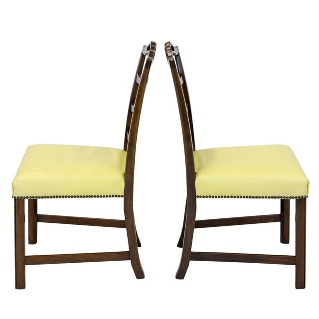 Mahogany Ladder Back Side Chairs, a Pair For Sale - Image 4 of 8