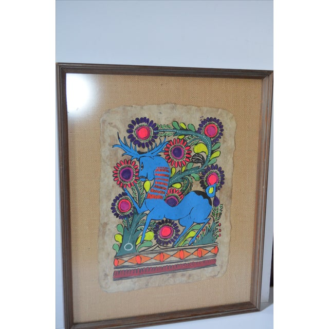 Otomi Mexican Folk Art Amate Painting For Sale - Image 4 of 8