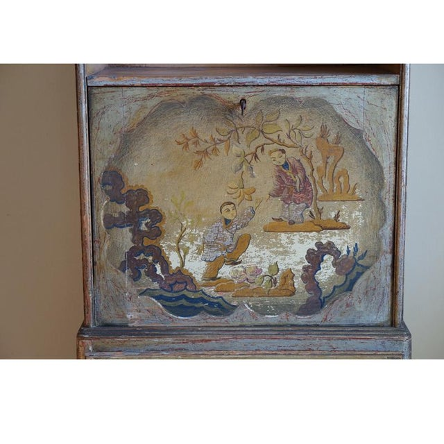 Asian Early 20th Century English Chinoiserie Secretary For Sale - Image 3 of 9