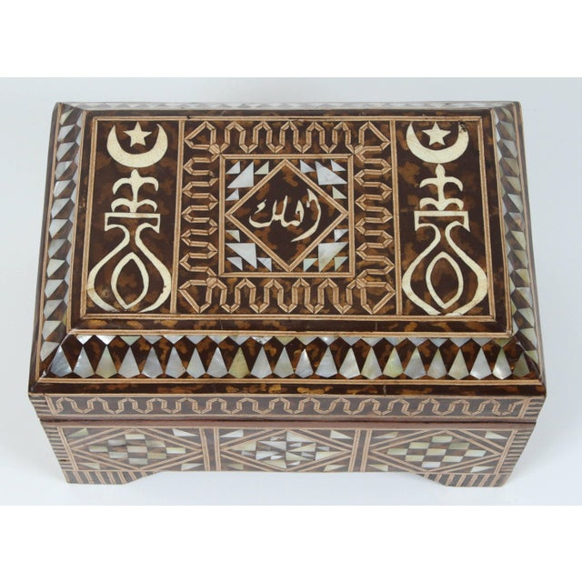 Large Mother-Of-Pearl Inlaid Jewelry Box For Sale - Image 4 of 7