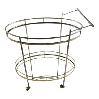 Art Deco Style Wrought Iron Bar Cart