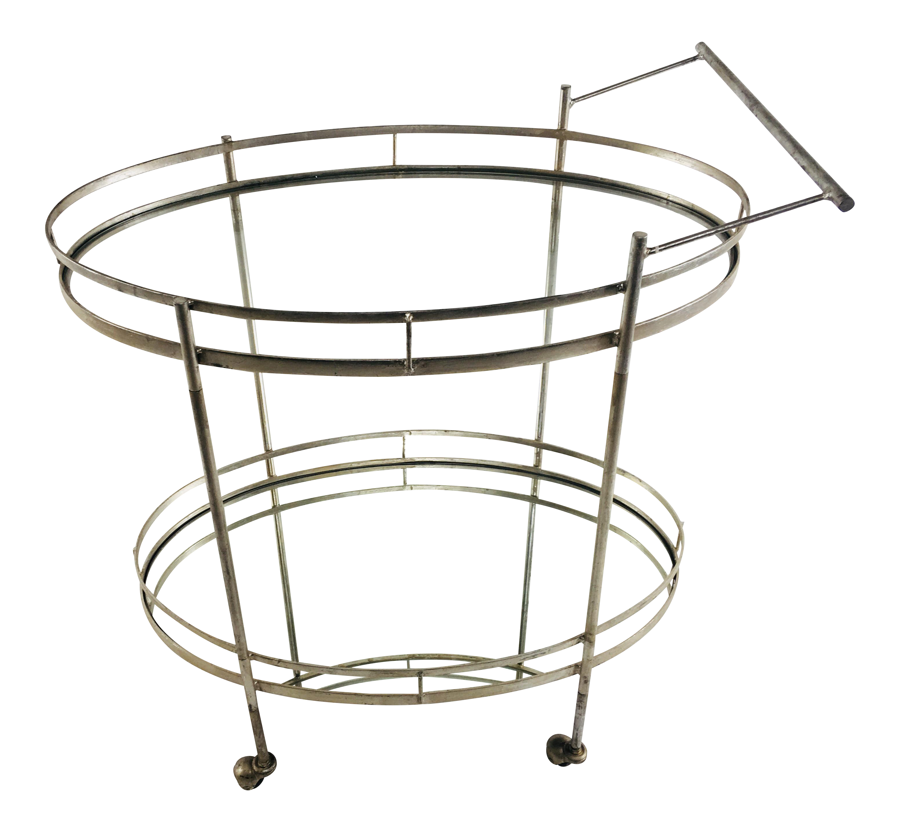Art Deco Style Wrought Iron Bar Cart For Sale