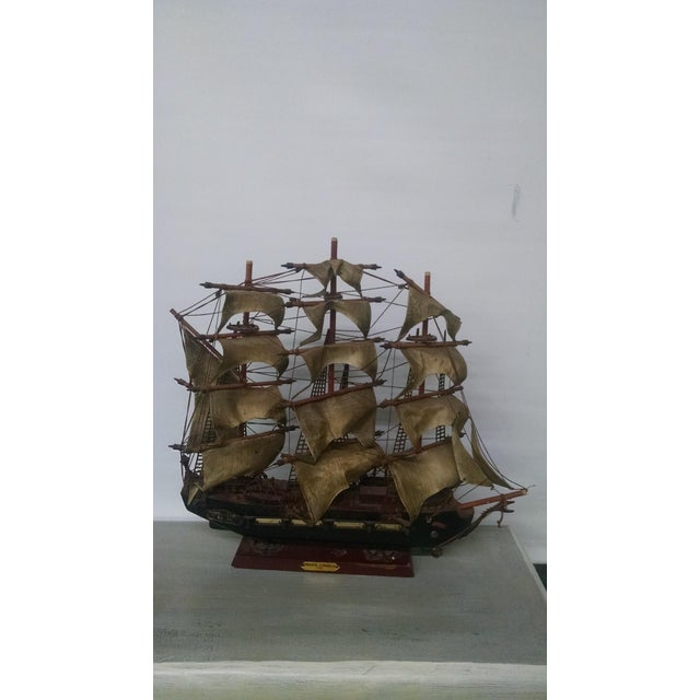 Vintage Tall Ship Model - Image 2 of 7