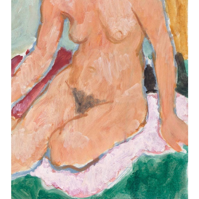 Impressionist Victor DI Gesu, 'Seated Nude', California Post-Impressionist, Louvre, Lacma, Circa 1955 For Sale - Image 3 of 8