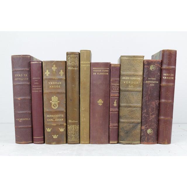 Wine & Olive Toned Leather Bound Books - 10 - Image 3 of 3