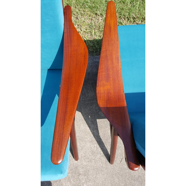 1960s Danish Modern Hovmand Olsen Lounge Chairs - a Pair For Sale - Image 6 of 13