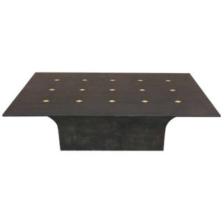 "Stunning Goatskin ""Shagreen"" Lacquered Dining Table"