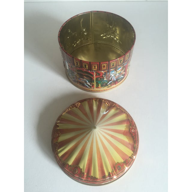 Vintage Churchill's Of London Carousel Candy Tin Box For Sale In New York - Image 6 of 10