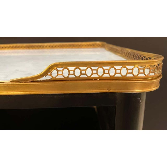Stone Pair of Hollywood Regency Nightstands or End Tables in the Manner of Jansen For Sale - Image 7 of 13