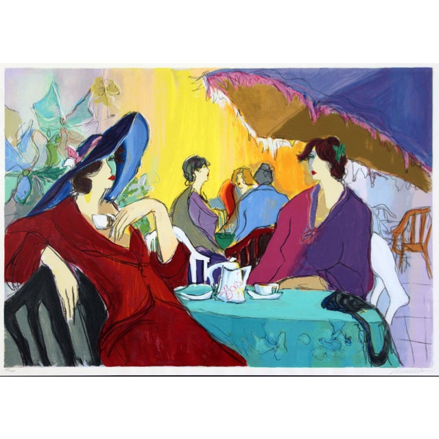 "For your consideration is a large and lovely, framed serigraph, entitled ""Cafe Select,"" hand signed and numbered by..."