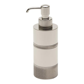 Luster Knurled Soap Dispenser in Nickel For Sale