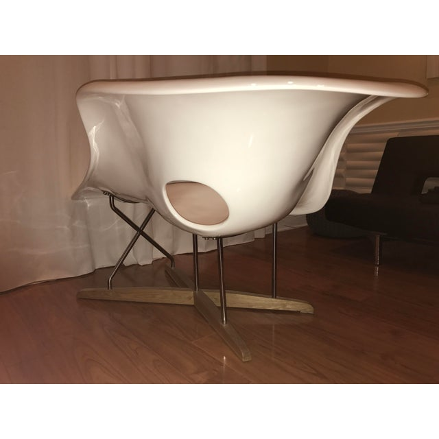 Eames La Chaise White Lounge Chair - Image 4 of 7