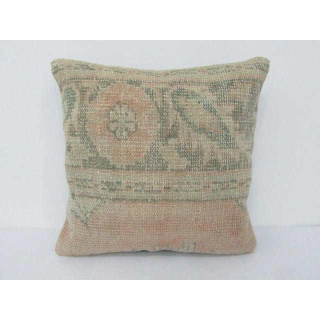 Turkish Washed Out Vintage Decorative Pillow Cover For Sale - Image 4 of 4