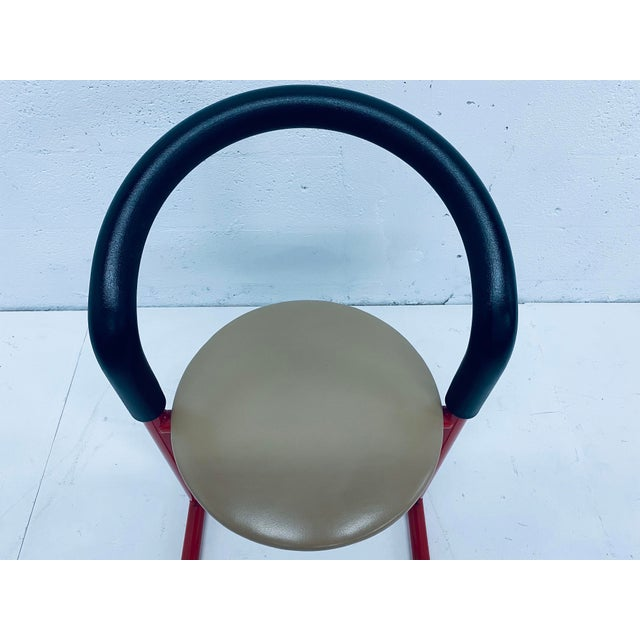 Metal Postmodern Amisco Chair or Stool With Foam Back For Sale - Image 7 of 11
