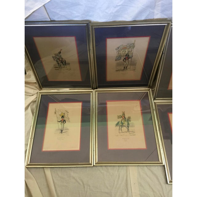 6 Matching Antique French Military Prints Hand Colored Eugene Titeux - Image 4 of 11