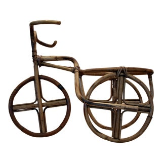 Rattan Tricycle Planter