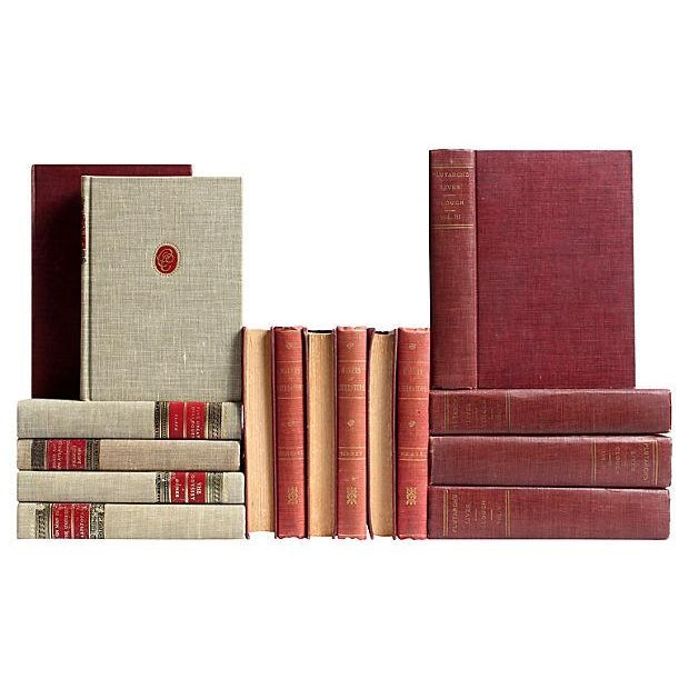 Red & Flax Midcentury Classic Books - Set of 16 - Image 2 of 4