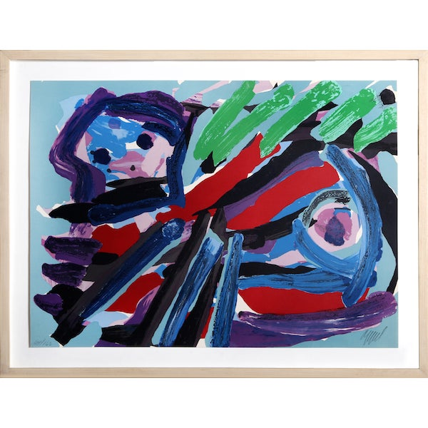 "Karel Appel, ""Walking With My Bird,"" Lithograph - Image 1 of 2"