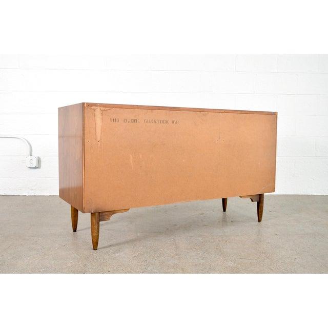 Mid Century Mt. Airy 6-Drawer Lowboy Walnut Dresser For Sale - Image 9 of 11