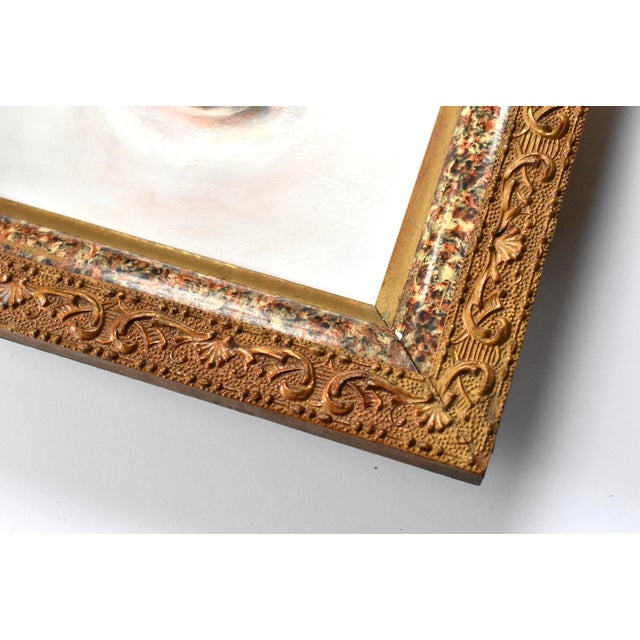2020s Contemporary Lover's Eye Painting by Susannah Carson in a Marbled Victorian Frame For Sale - Image 5 of 6