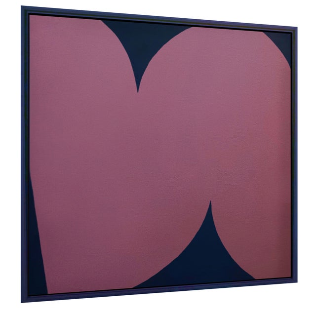 Contemporary Contemporary Abstract Graphic Pink and Blue Painting by Brooks Burns, Framed For Sale - Image 3 of 3