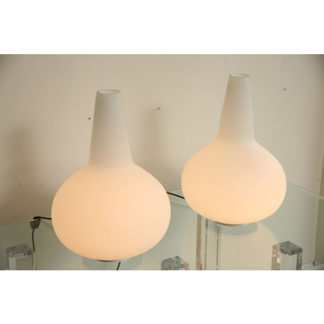 Modern Ingrand & Raimoni for Fontana Arte Lamps - A Pair For Sale - Image 3 of 4