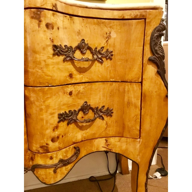 Gold Antique Italian Serpentine Chest For Sale - Image 8 of 11