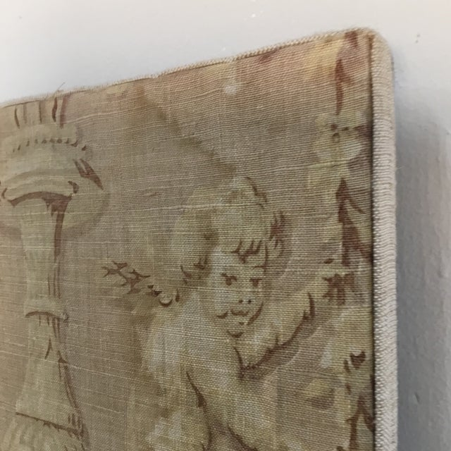 18th Century French Textile Printed Linen Panels - a Pair For Sale - Image 9 of 13