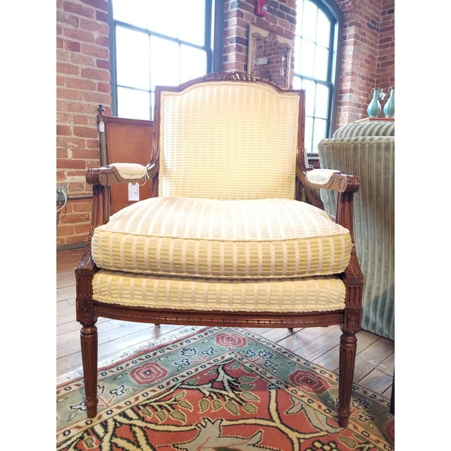 Lewis Mittman Fauteuil in Cream Velvet From Waldorf Astoria New York For Sale - Image 12 of 12