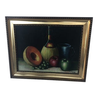 Still Life Painting, Signed C. Ford For Sale