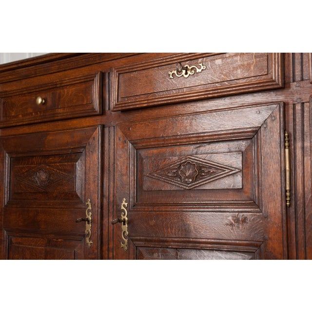 French Provincial 19th Century French Provincial Oak Enfilade from Normandy For Sale - Image 3 of 11