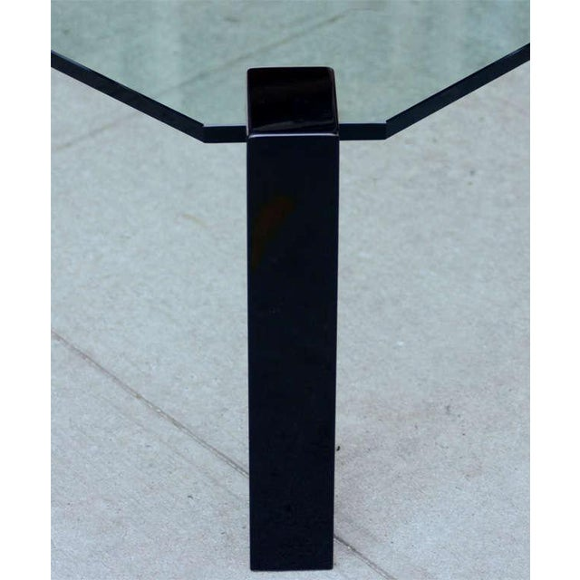 Early 20th Century Exceptional Modernist Black lacquer and Glass Cocktail Table For Sale - Image 5 of 9