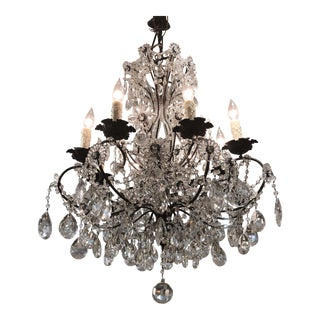 Antique Venetian Crystal Chandelier For Sale