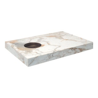 Modern Floor Table in Marble by Stefano Belingardi Clusoni For Sale