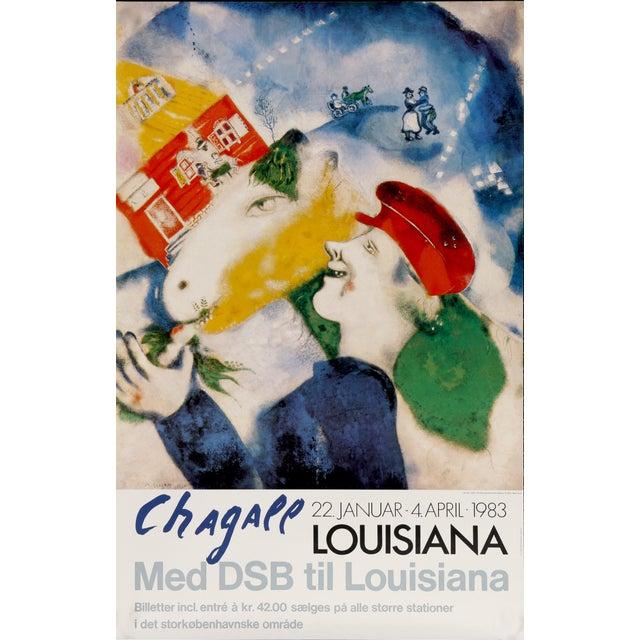 Figurative Marc Chagall Louisiana Museum of Modern Art in Humlebaek, Denmark, Med Dsb Til Louisiana Museum Exhibition Poster For Sale - Image 3 of 3