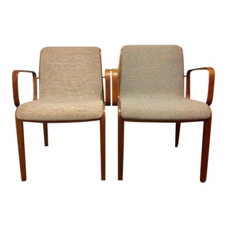1980s Vintage Mid-Century Modern Bill Stephens for Knoll Chairs - A Pair For Sale