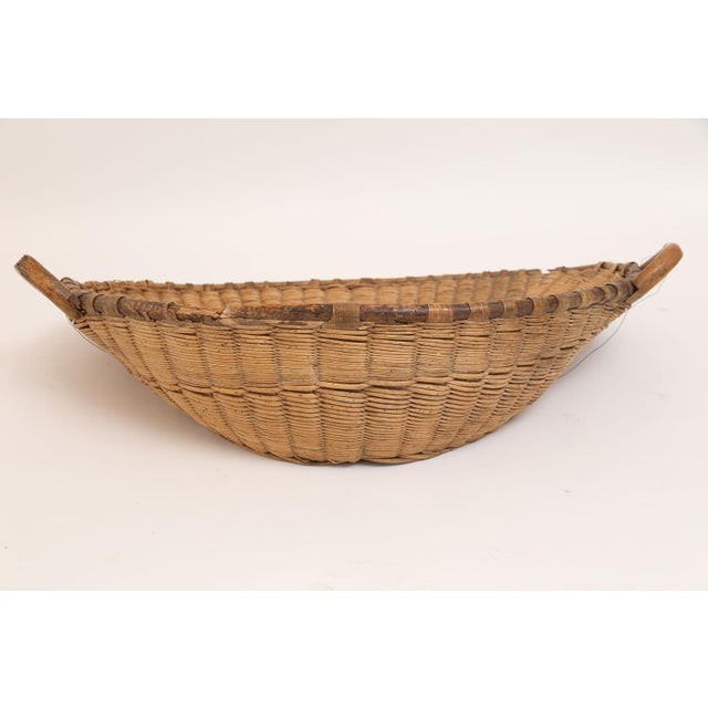 Mid 19th Century Antique French Winnowing Basket For Sale - Image 5 of 8