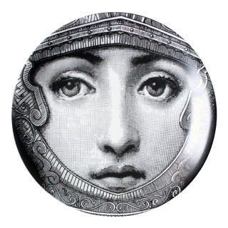 Piero Fornasetti Tema E Variazioni Porcelain Plate, Themes and Variations, Number 95, the Iconic Image of Lina Cavalieri. Circa 1965.