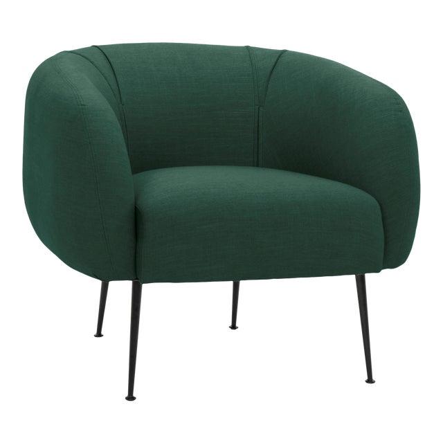 Dark Green Sepli Accent Chair For Sale