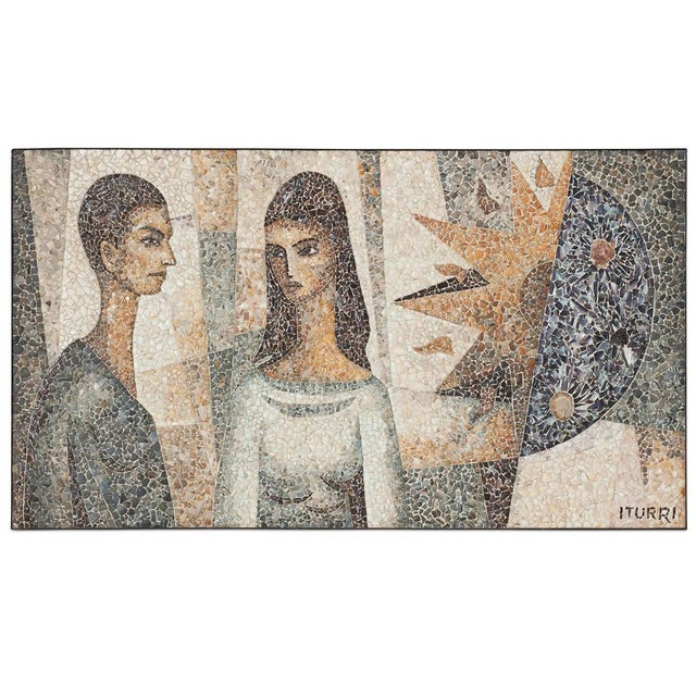 Mosaïc Artwork in Shell by Manuel Iturri For Sale - Image 9 of 9
