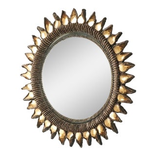 """Small """"Golden Thistle"""" Mirror by Line Vautrin, 1955-1965 For Sale"""
