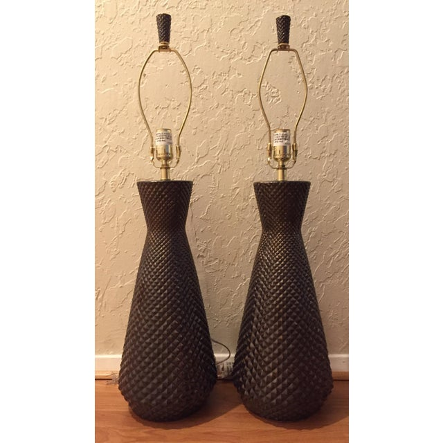 "Mid-Century Inspired ""Pina"" Lamps by Arteriors - Pair - Image 2 of 6"