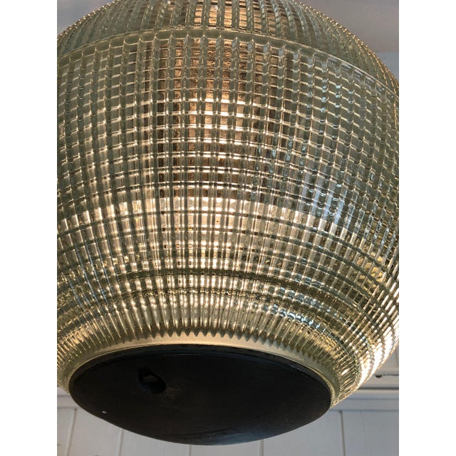 Parisian Holophane Globe Pendant Chandelier For Sale - Image 9 of 13