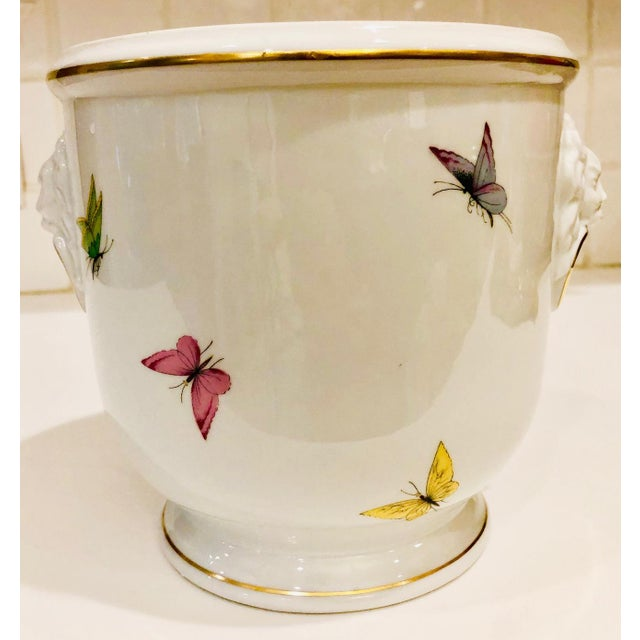 White 1930s Limoges Butterflies and Lion's Head Cachepot For Sale - Image 8 of 13