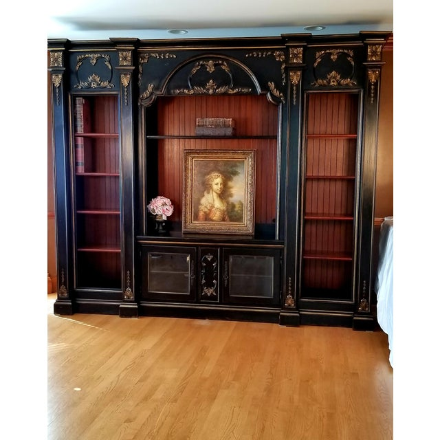 French Custom Habersham Influenced Book Shelves For Sale - Image 3 of 13