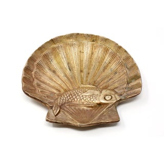 Vintage Brass Scallop Shell and Fish Ashtray Preview