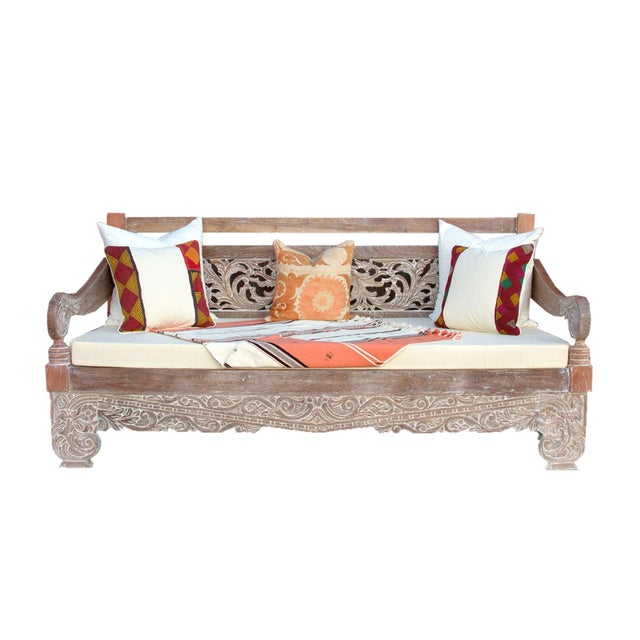 Dee Opium Lime Washed Daybed For Sale - Image 9 of 9