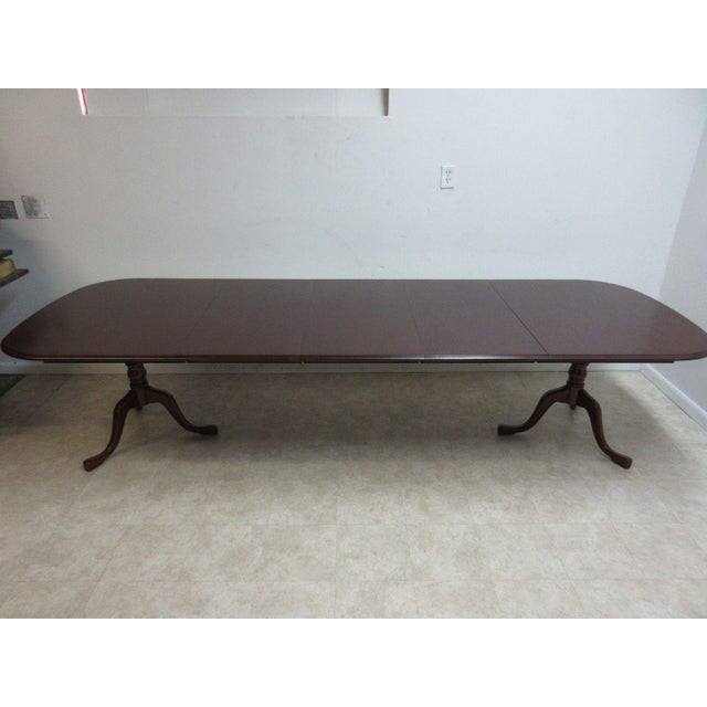 2000s Pennsylvania House Cherry 3-Board Pedestal Dining Table For Sale - Image 5 of 11